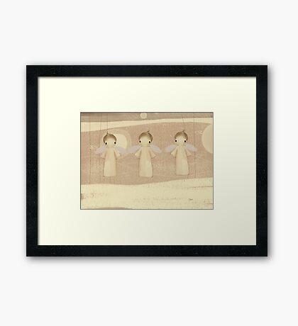 three little angels Framed Print