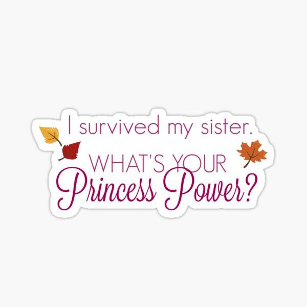 Princess Power - Snow Sister 2 Sticker