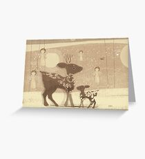 deer and angels Greeting Card