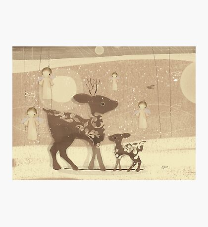deer and angels Photographic Print