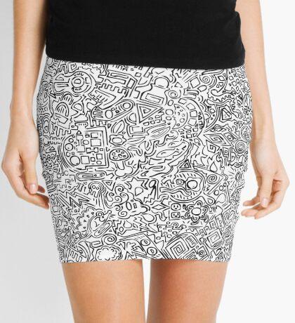 Scrawl Mini Skirt