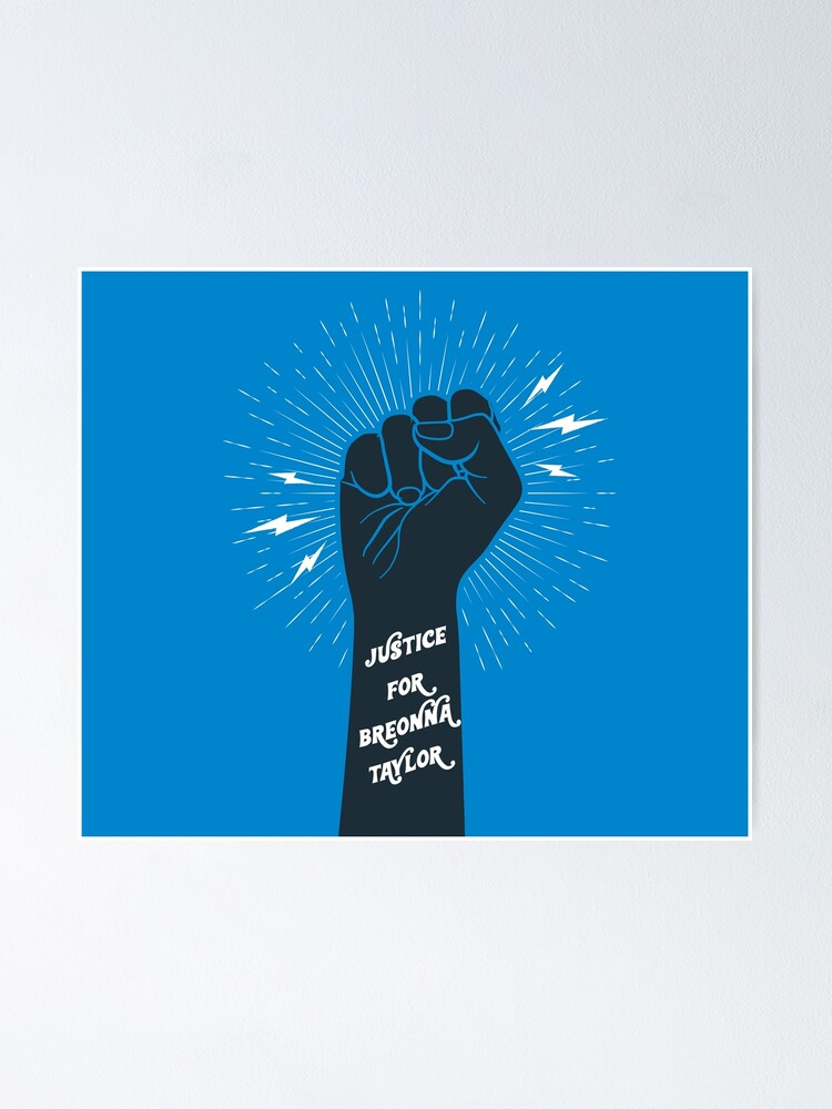 Justice For Breonna Taylor Poster By Alexvoss Redbubble