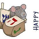 Dreidel Mouse: Happy Hanukkah by sneercampaign