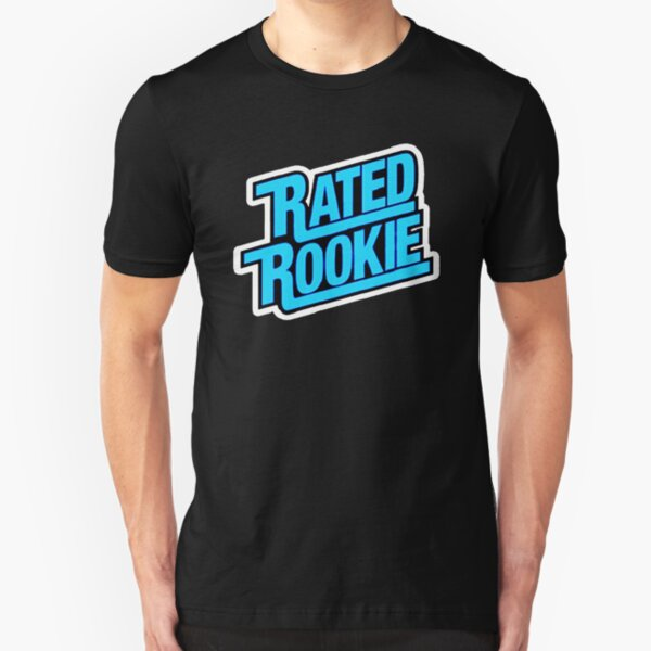 RATED ROOKIE FUNNY SHIRT and STICKER  Slim Fit T-Shirt