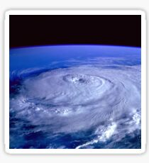 Hurricane picture of earth from space.  Sticker