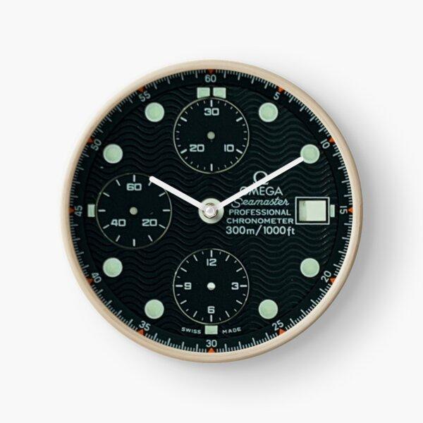Cadran bleu ondulé Omega Seamaster Horloge