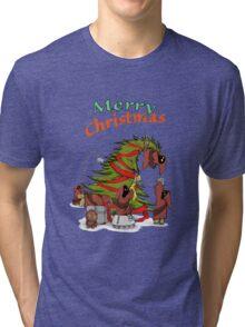 Merry Utini Xmas Tri-blend T-Shirt