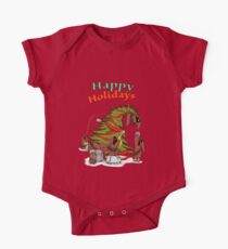 Happy Holidays from your little friends One Piece - Short Sleeve