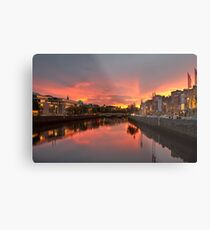 Dublin Sunset Metal Print