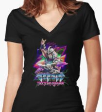 Shredd Live at the Technodrome in 1988 Women's Fitted V-Neck T-Shirt