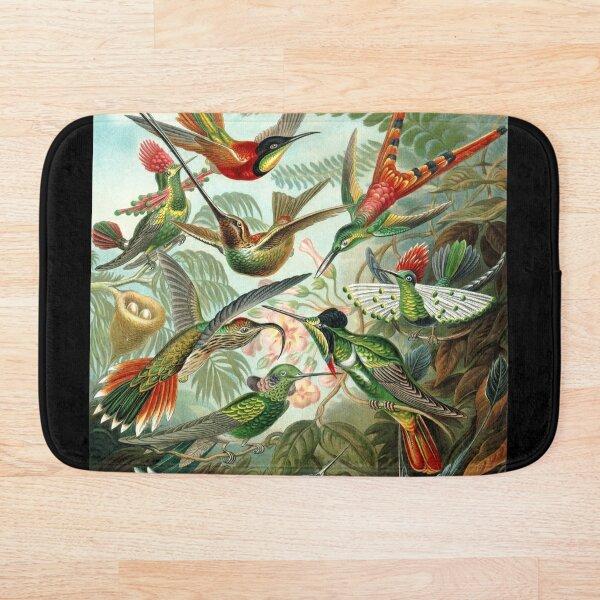 Ernst Haeckel Hummingbirds Bath Mat