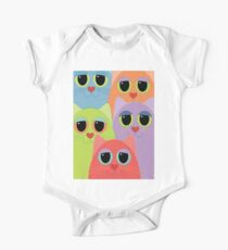 CAT FACES FIVE One Piece - Short Sleeve