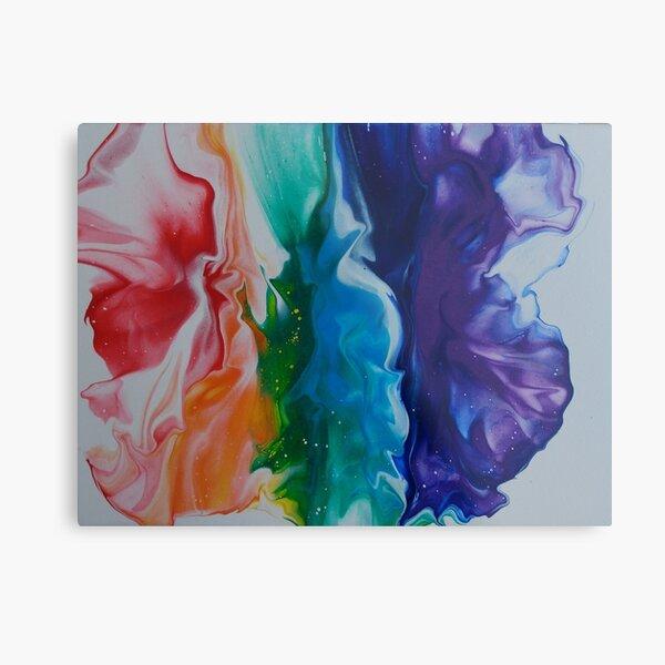 Flowing Pride - White Metal Print