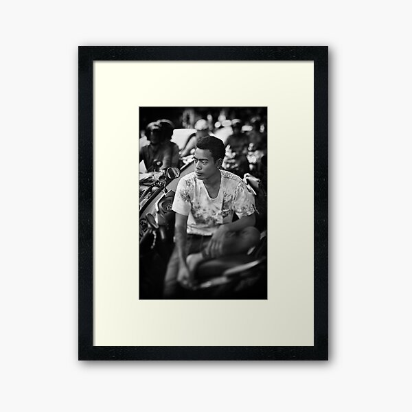 Faces of Kuta #03 ... Deep in thought Framed Art Print