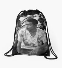 Faces of Kuta #03 ... Deep in thought Drawstring Bag