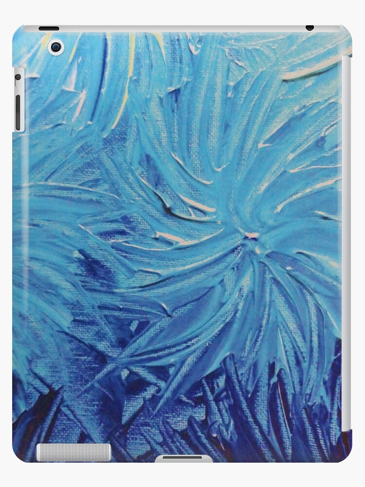 WATER FLOWERS 2 - Stunning Ocean Beach BC Waves Floral Abstract Acrylic Painting Turquoise Blue by EbiEmporium