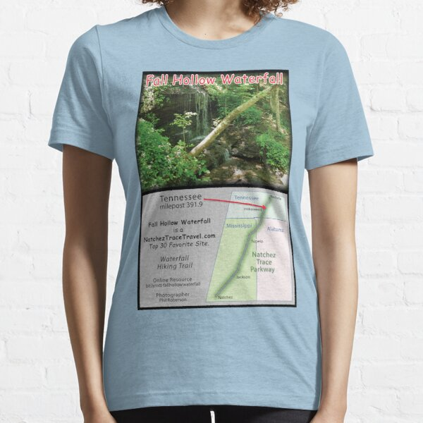 Fall Hollow Waterfall on the Natchez Trace Parkway. Essential T-Shirt