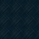 Dark Blue With Checkered Pinstripe by pjwuebker