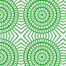 Bright Green Tile Circles by pjwuebker