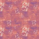 Antique Butterflies on Purple and Pink by pjwuebker