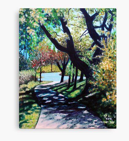 'THE WALK AROUND BROYHILL PARK (#1)' Canvas Print