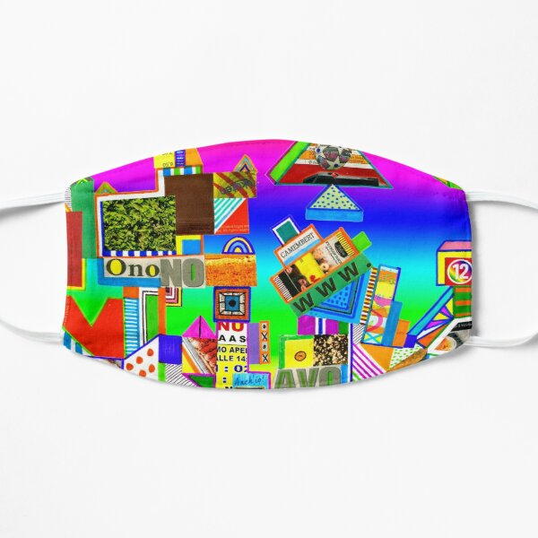 Contro onono avoffe (abstract collage) Mask