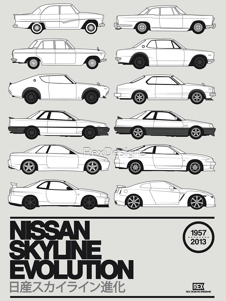 Nissan Skyline History | Unisex T-Shirt
