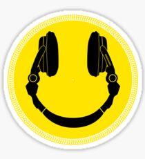 DJ Smiley Platter - Smile Happy Sticker