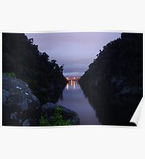 Pre dawn at Cataract Gorge, Launceston Tasmania  Poster