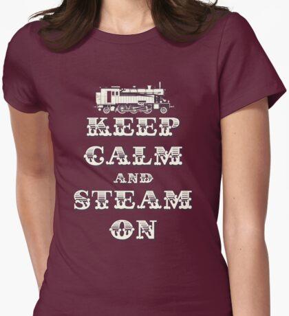 Keep Calm and Steam On Steam Engine #1B T-Shirt