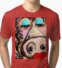 Lipstick on a Pig Tri-blend T-Shirt