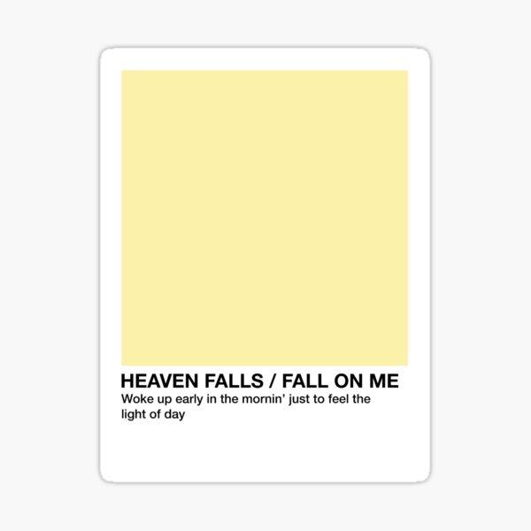 Heaven Falls / Fall On Me - Pantone Swatch Sticker