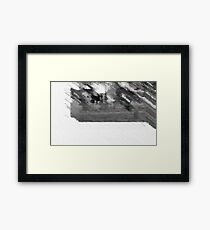 090712 176 1  pencil field hockey offset expressionist displace Framed Print