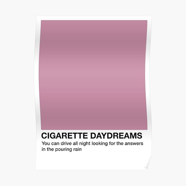 Cigarette Daydreams - Pantone Swatch Poster