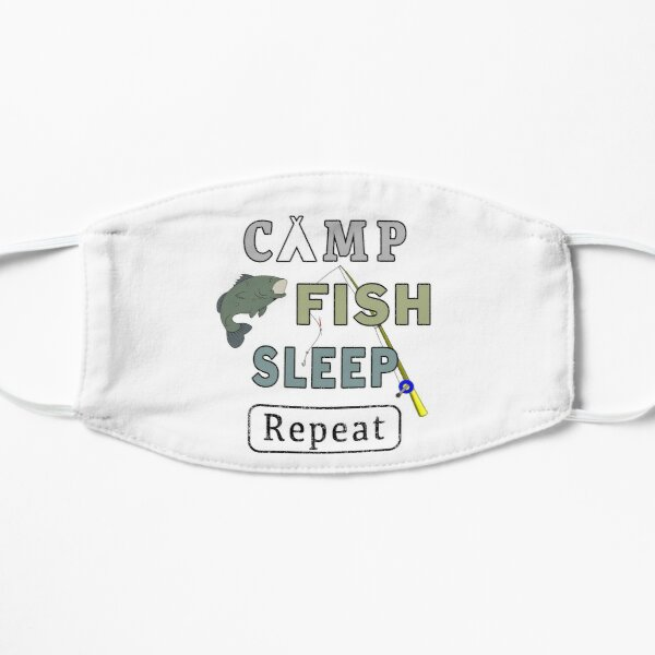 Camp Fish Sleep Repeat Campground Charter Slumber. Small Mask