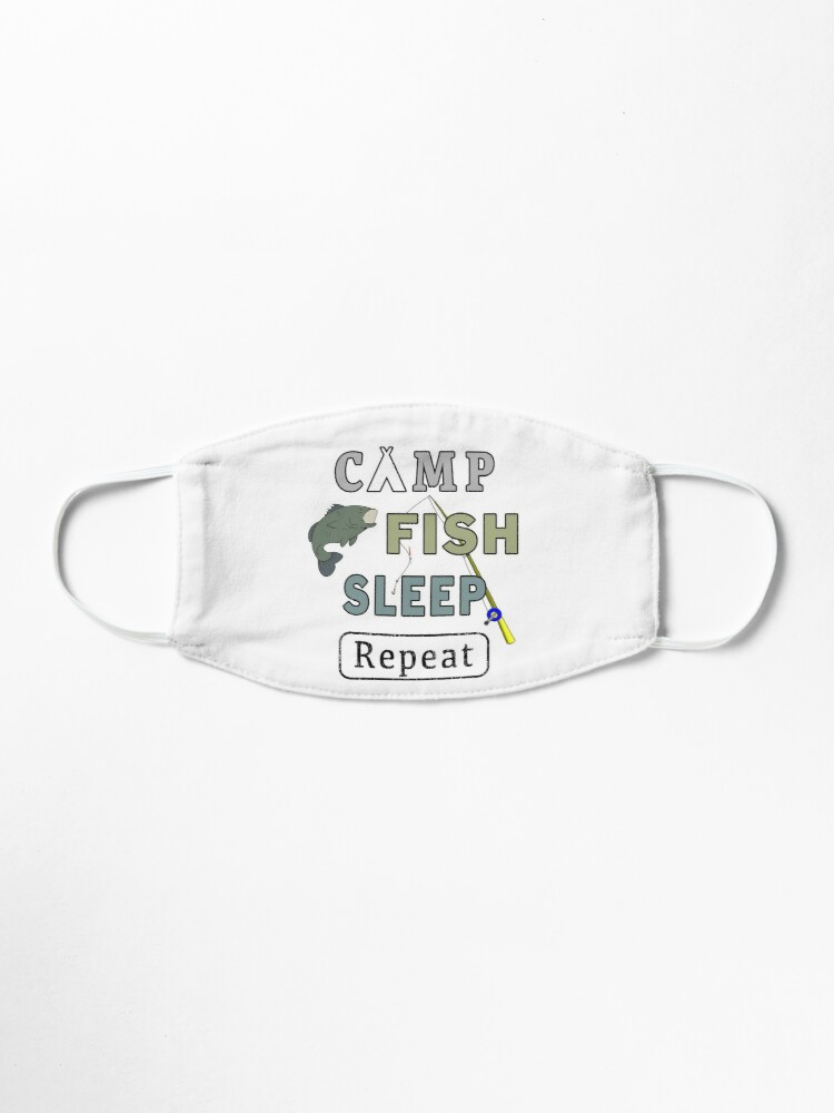Alternate view of Camp Fish Sleep Repeat Campground Charter Slumber. Mask