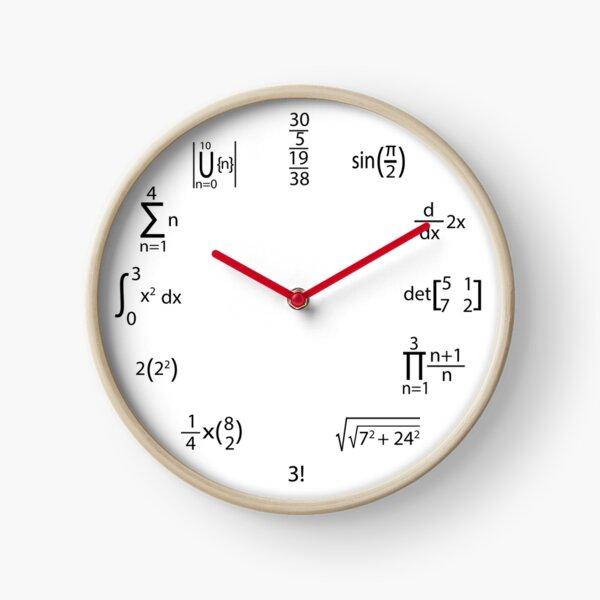 Math Clock , Funny Math Clock Meme , Maths Clock, Mathematical Equations, mathematician gifts ideas, Clock