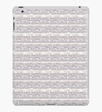 Vintage Music on White iPad Case/Skin