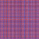 Vibrant Blue and Pink Plaid by pjwuebker