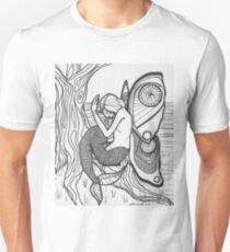 Mermaid Butterfly Coloring Page T-Shirt