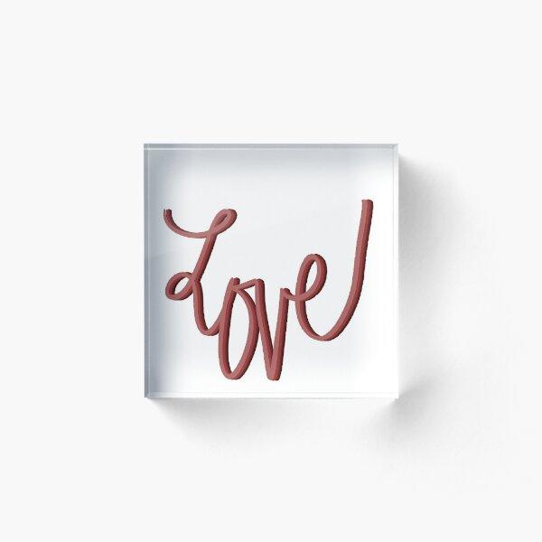 LOVE Sticker Acrylic Block