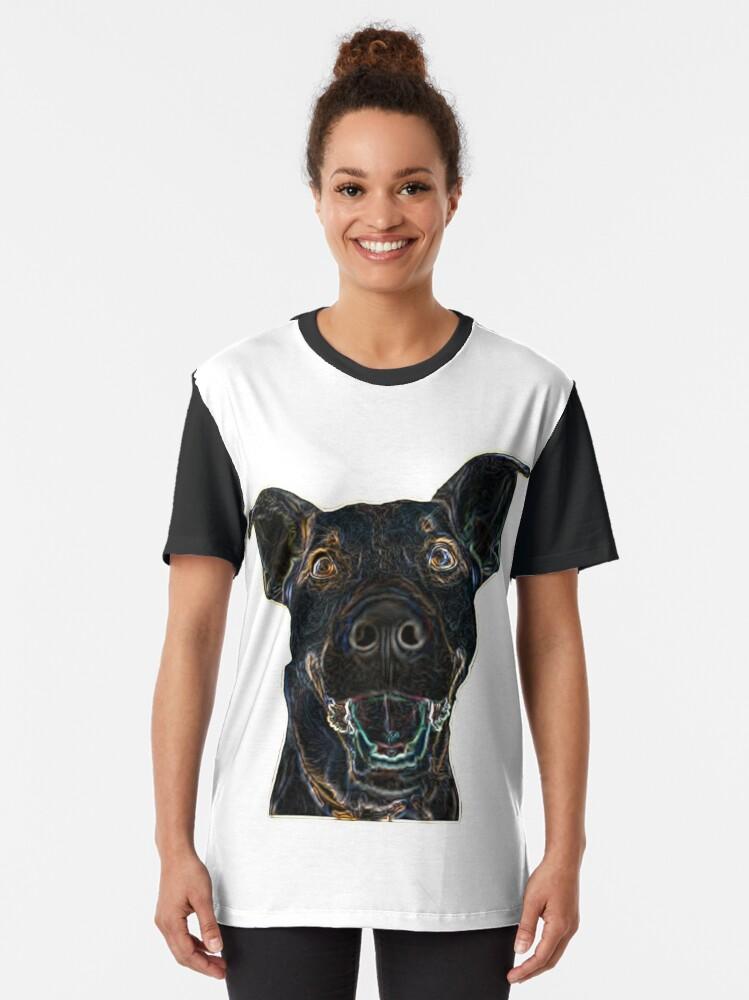 Vista alternativa de Camiseta gráfica Black Dog