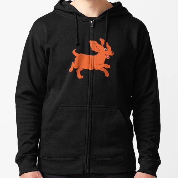Happy Cavalier King Charles Spaniel Zipped Hoodie