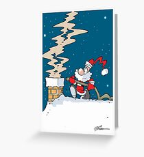 Fireman Santa Greeting Card