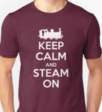 Keep Calm and Steam On Steam Engine #2A Unisex T-Shirt