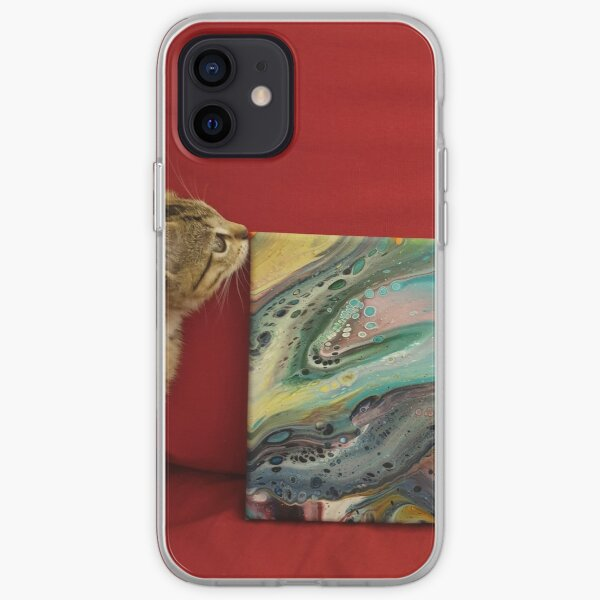 Kitten with Sunmoth painting iPhone Soft Case