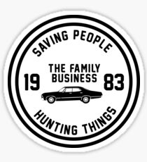 Supernatural - The Family Business Sticker
