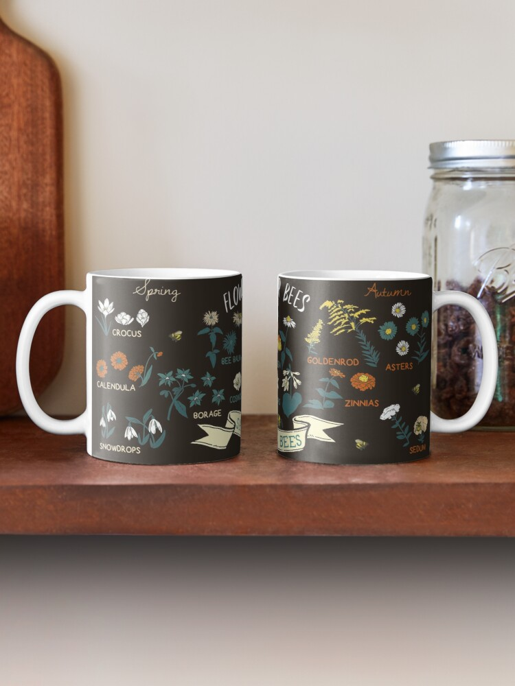 Alternate view of Flowers For Bees (Color) Mug