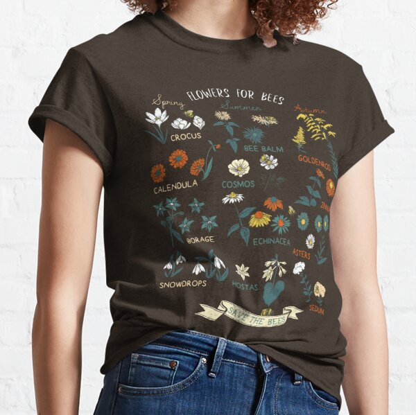 Flowers For Bees (Color) Classic T-Shirt