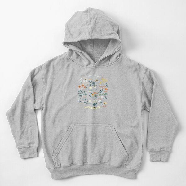 Flowers For Bees (Color) Kids Pullover Hoodie